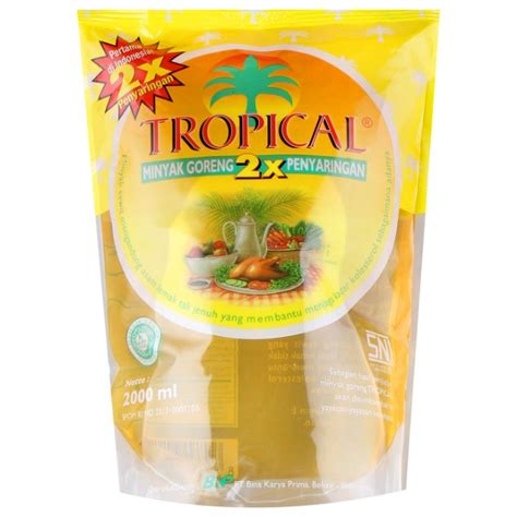 Minyak Goreng Tropika minyak goreng tropical kemasan 2 liter kitchen