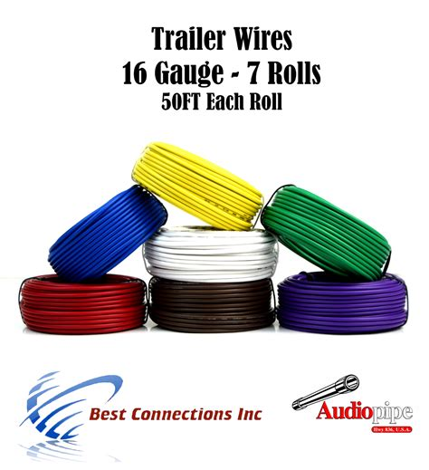 7 way trailer wire light cable for harness 50 ft each roll