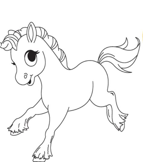 coloring pages cute horses baby horse coloring pages getcoloringpages com