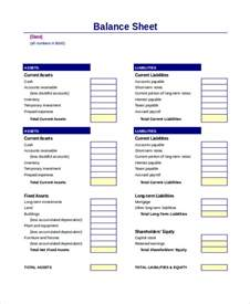 Business Balance Sheet Template by Balance Sheet 16 Free Word Excel Pdf Documents