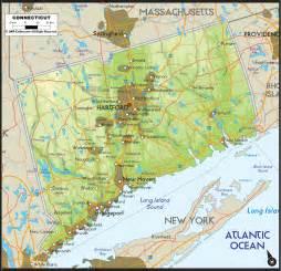 us map connecticut physical map of connecticut ezilon maps
