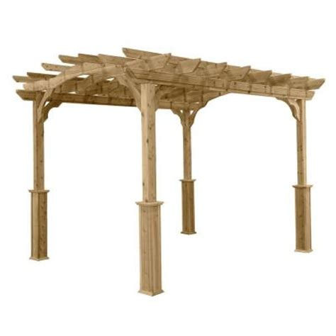 homeplace structures 8 ft x 10 ft cedar pergola pa810