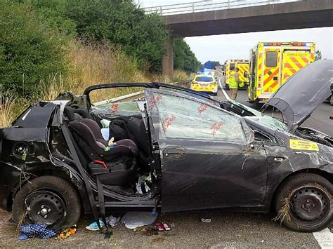 car seat cocooning in crash car seat saves baby after crash on m40 near banbury