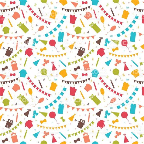 seamless pattern birthday happy birthday seamless pattern with colorful party