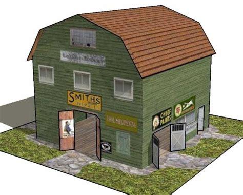 free paper model buildings downloads simple kankakee hardware store free building paper model