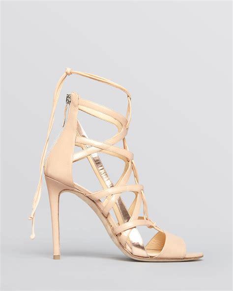beige high heel sandals alejandro ingelmo sandals boomerang high heel in beige