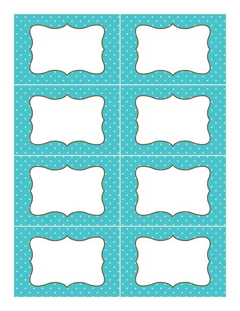 Blue Polka Dot Label Template Jpg 1 237 215 1 600 Pixels Baking Pinterest Supplies Buffet And 1 Quot Labels Template Free