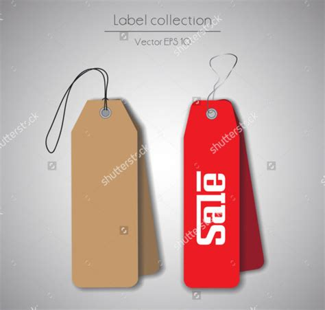 hang tag template recycled paper garment hang tag