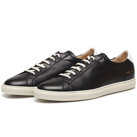 by common projects sneakers common projects black white retro leather achilles low