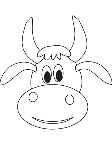 cow mask template pin cattle clipart cow 1 coloring page cow