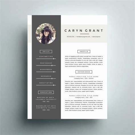 modern business letter template word professional resume template and cover letter template for
