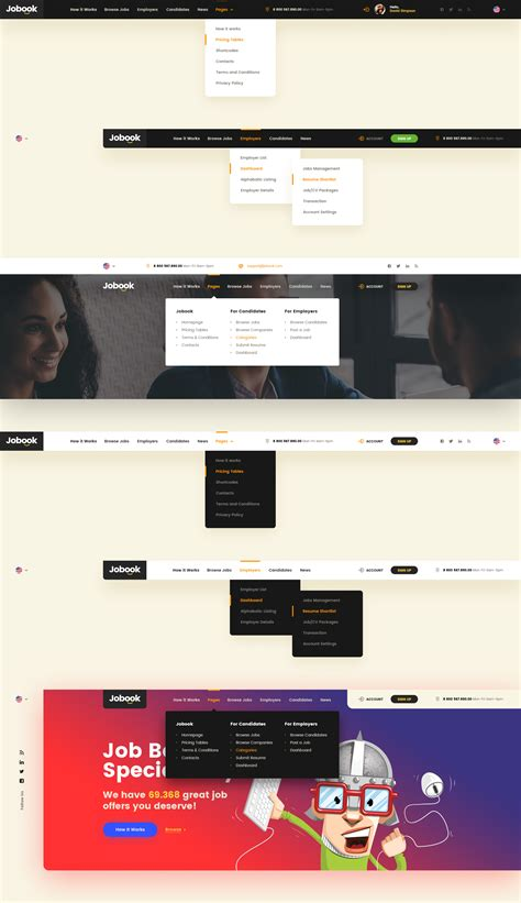 Jobook A Unique Job Board Website Psd Template By Themefire Themeforest Board Website Template