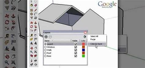 google sketchup 8 tutorial layers how to use layers in google sketchup 171 software tips