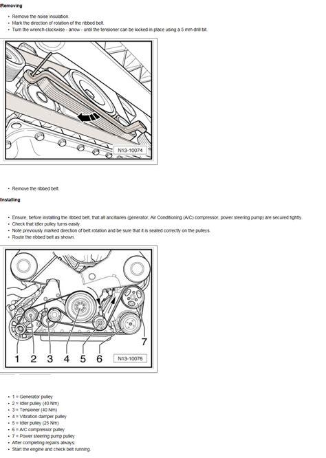 vw   phaeton serpentine belt replacement    routing diagram