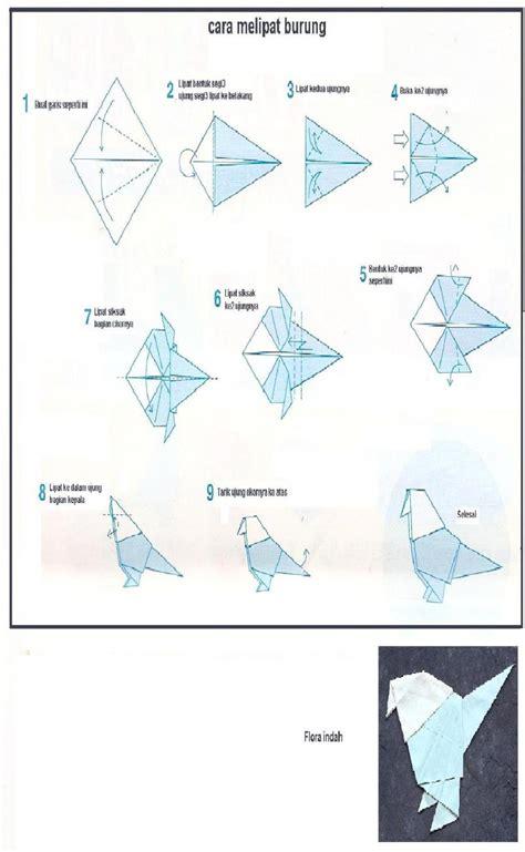 tutorial pembuatan burung dari kertas origami my umbrella kertas menjadi burung
