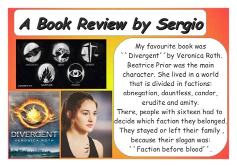 book report on divergent a or book review by 6 b