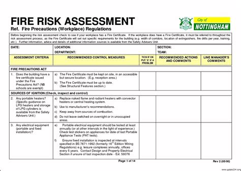 risk assessment template download template update234 com