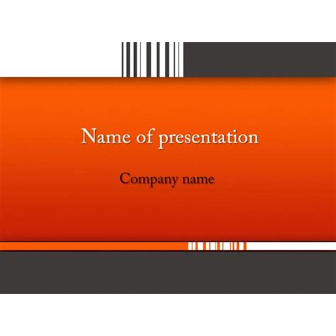 barcode powerpoint template background for presentation free