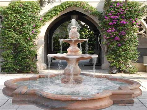 fountain ideas for backyard outside water fountains garden small water fountains