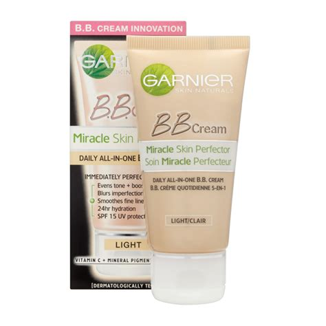 garnier bb light garnier miracle skin perfector daily all in one b b