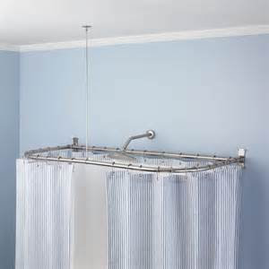 curtains ideas how to make l shaped shower curtain rod