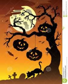 scene halloween tree 2 stock image image 20208001