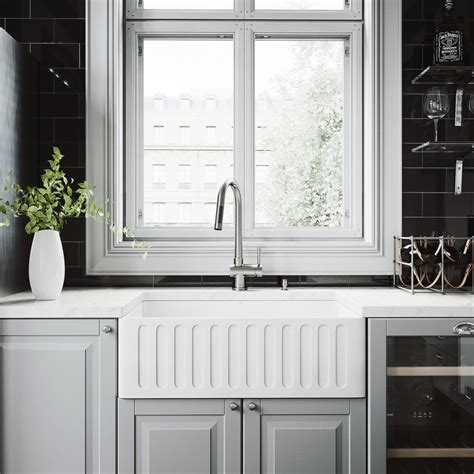 all in one kitchen sink and cabinet vigo all in one 30 in 0 hole farmhouse kitchen sink and