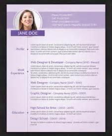 Resume With Photo Template by 21 Stunning Creative Resume Templates