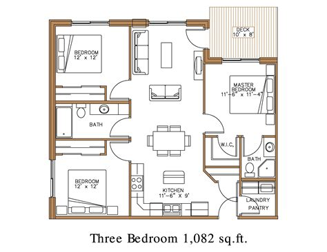 3 bedroom unit floor plans floor plan at northview apartment homes in detroit lakes