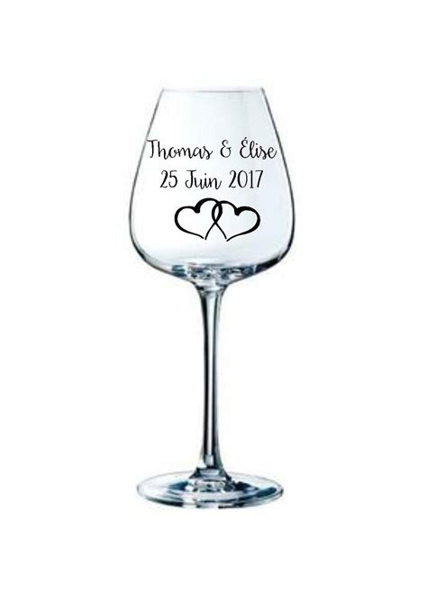 10 personalized stickers to stick on wedding wine glass