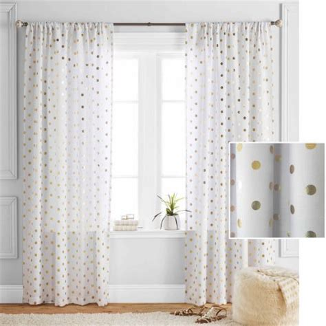 polka dot curtain panels better homes and gardens polka dots curtain panel