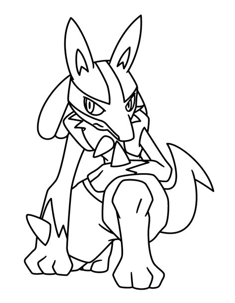 pokemon coloring pages lucario pokemon advanced coloring