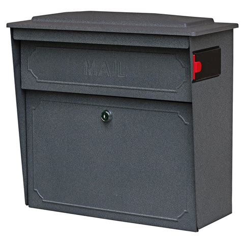 mail townhouse locking wall mount mailbox with high