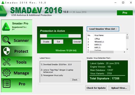 Update Terbaru dan update smadav 2016 versi 10 8 penambahan 200 virus baru jeripurba