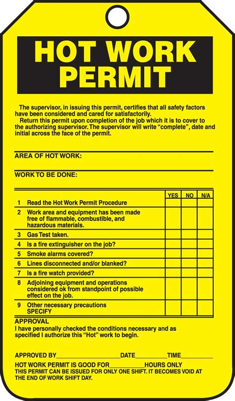 work permit template safety zone may 2014
