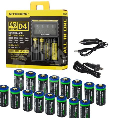 Termurah Nitecore Advanced Li Ion Rechargeable Battery Pack 65wh For 16 li ion rcr123a 16340 rechargeable batteries nitecore
