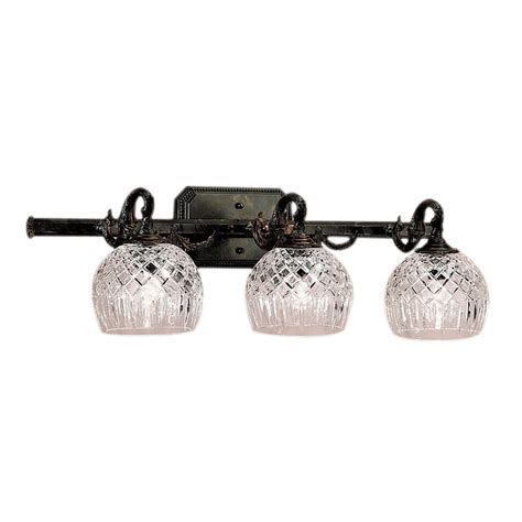 Bronze Bathroom Vanity Lights Shop Classic Lighting 3 Light Waterbury Oxidized Bronze Bathroom Vanity Light At Lowes