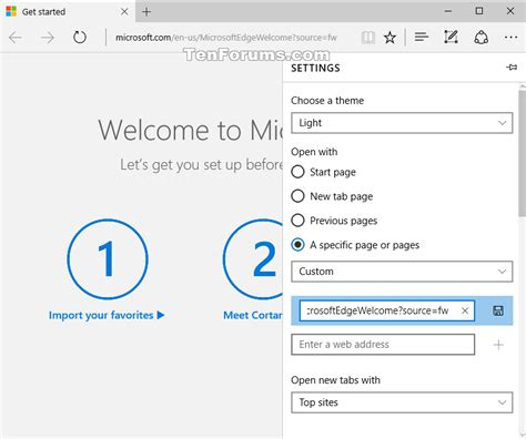 windows 10 microsoft edge tutorial turn on or off microsoft edge welcome page in windows 10