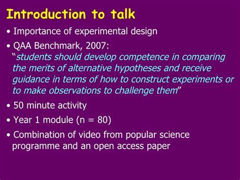 experimental design guidance experimental design smell of fear