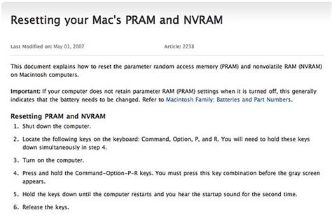 nvram reset osx reinstating a missing bluetooth device mac os x my