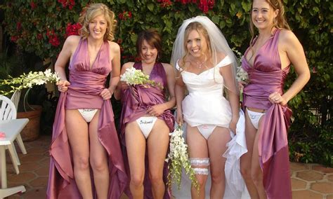 Bridal Party Panties Flash Kinky Delight