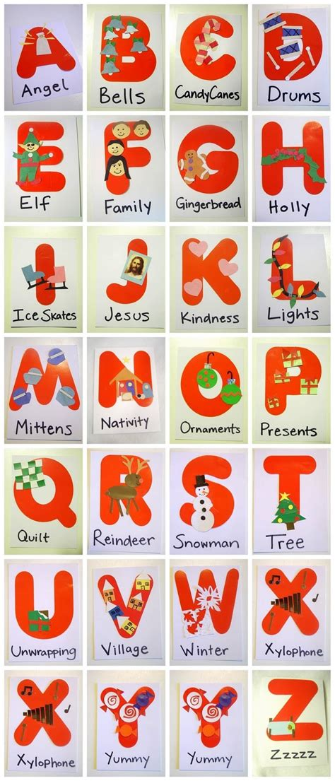 little family fun christmas abc s alphabet themes