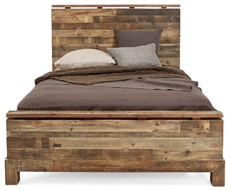 Rustic Bed by Ecofirstart Verge Bed Panel Beds Houzz