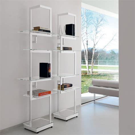 design librerie libreria a giorno autoportante bifacciale in metallo
