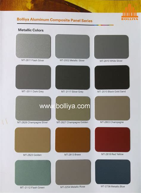 metallic color color chart metallic colors guangdong bolliya metal