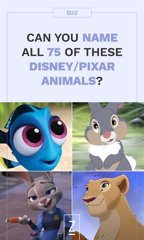 disney themes quiz can you name all 75 of these disney pixar animals