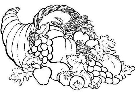 cornucopia coloring page cornucopia coloring pages to and print for free