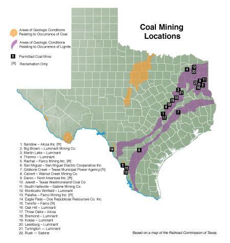 coal mines in texas map coal mining texas almanac