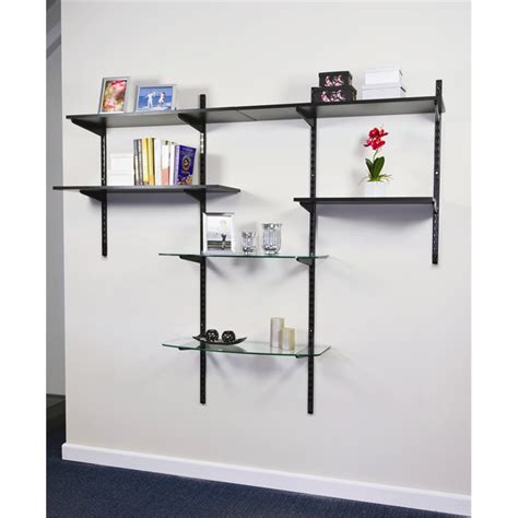 Black Melamine Shelf Board by Shelving Melamine Handy Shelf 900x300x16mm Black 00885 I N