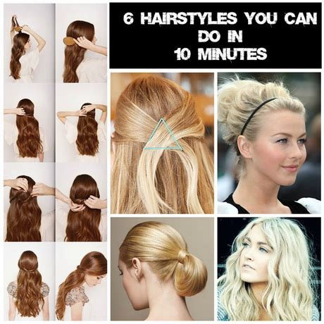 cute hairstyles you can do in 10 minutes hairstyles you can do in 10 minutes